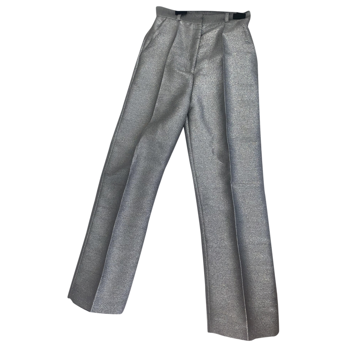 Non Signé / Unsigned \N Silver Trousers for Women 8 UK