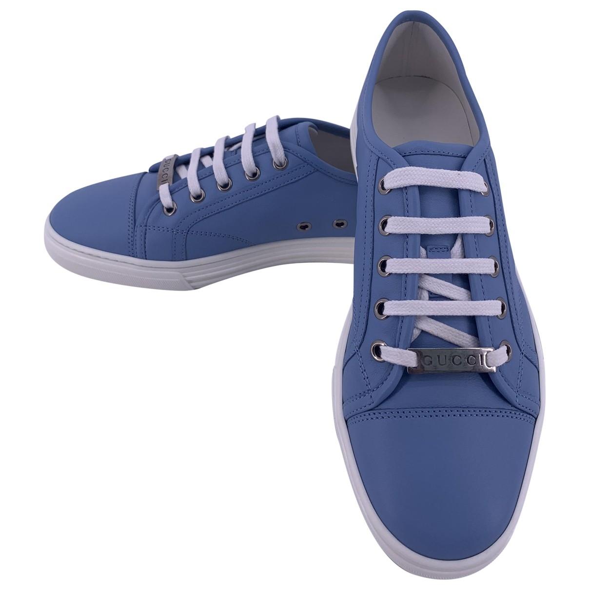 Gucci - Baskets   pour femme en cuir - bleu