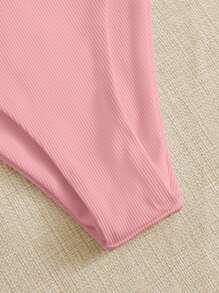 Rib Underwire High Cut Bikini Swimsuit