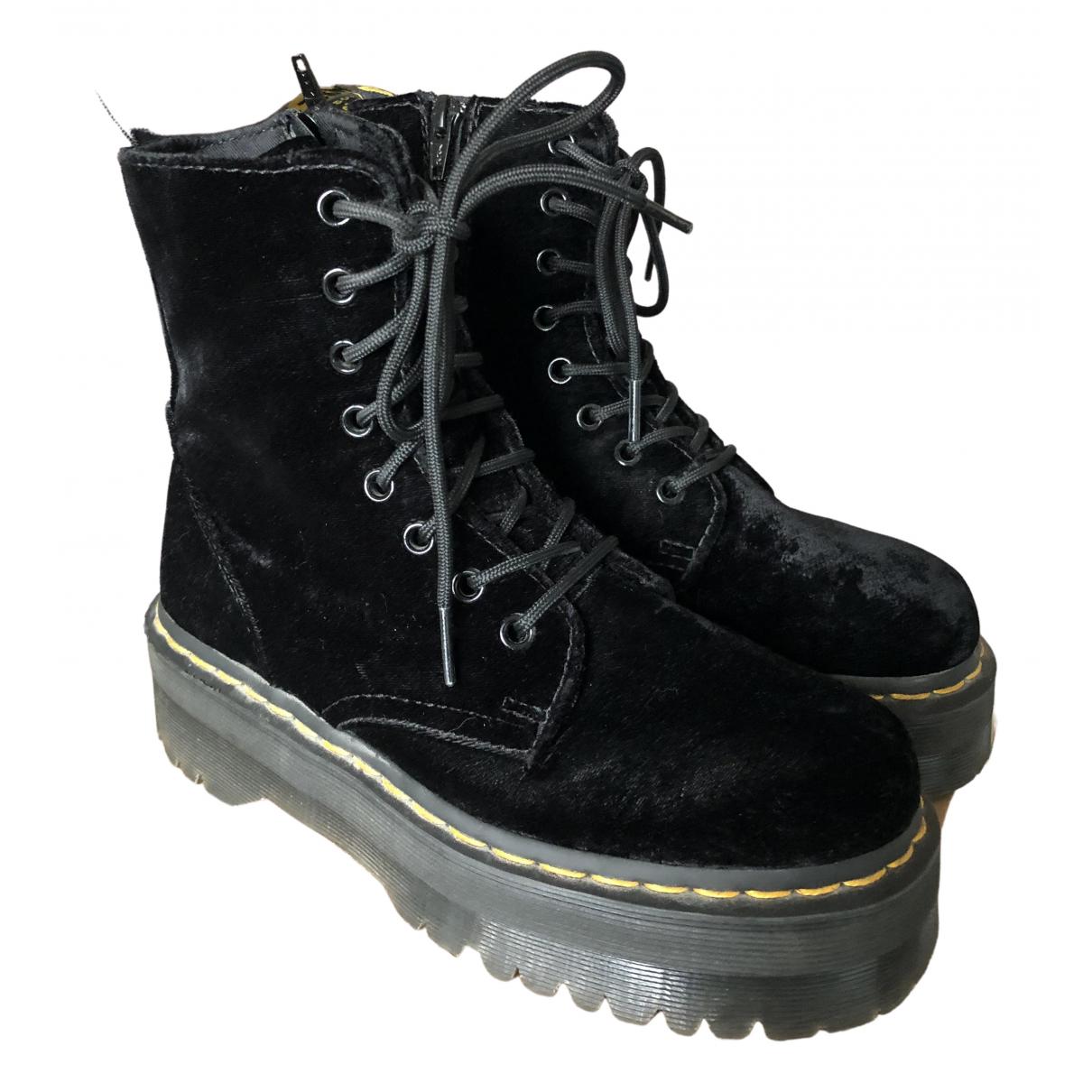 Dr. Martens - Boots Jadon pour femme en velours - noir