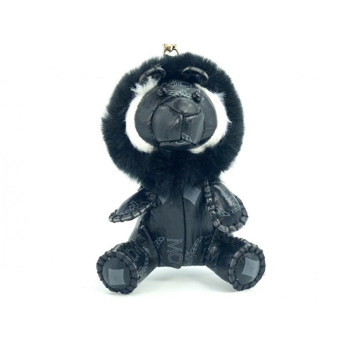 Mcm - Petite maroquinerie   pour femme en cuir - noir