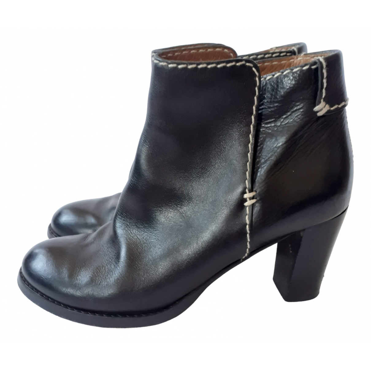 Chloé \N Black Leather Ankle boots for Women 41 EU
