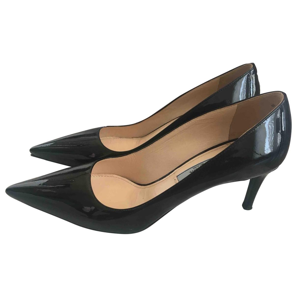 Prada \N Black Patent leather Heels for Women 36 EU
