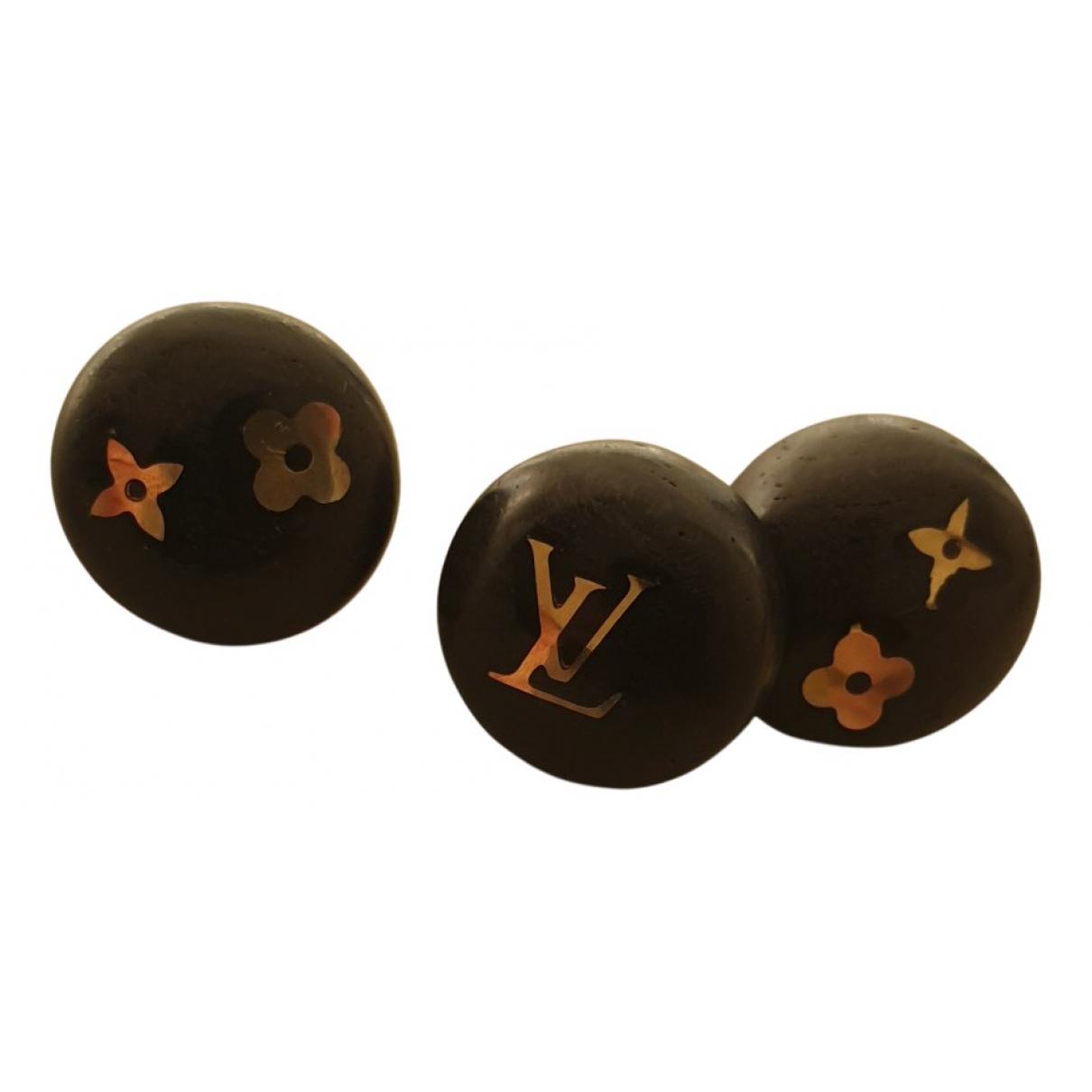 Louis Vuitton - Boucles doreilles   pour femme en bois - marron