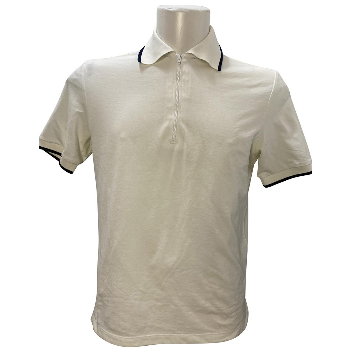 Versace - Polos   pour homme en coton - blanc