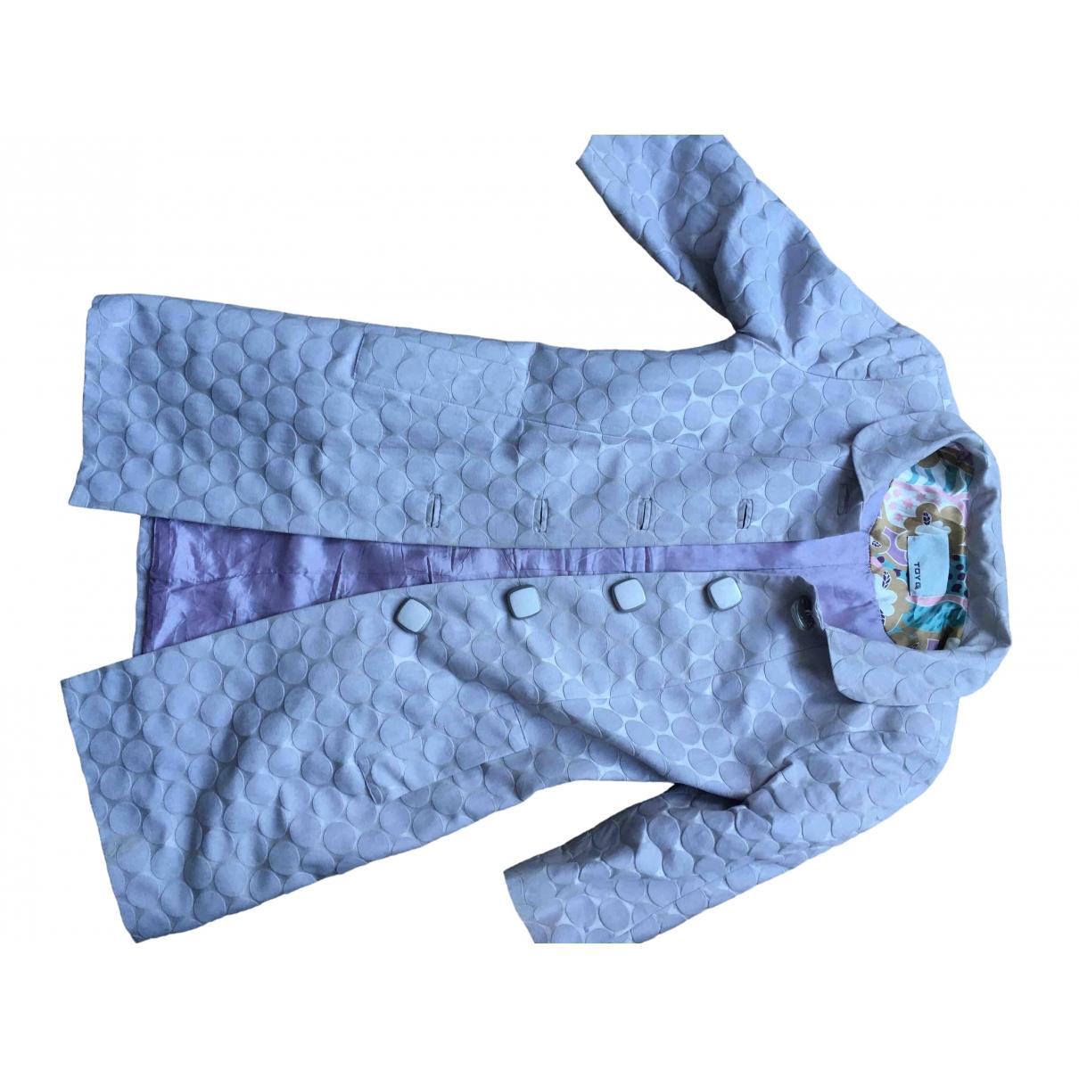 Non Signé / Unsigned \N Purple Cotton coat for Women 40 IT