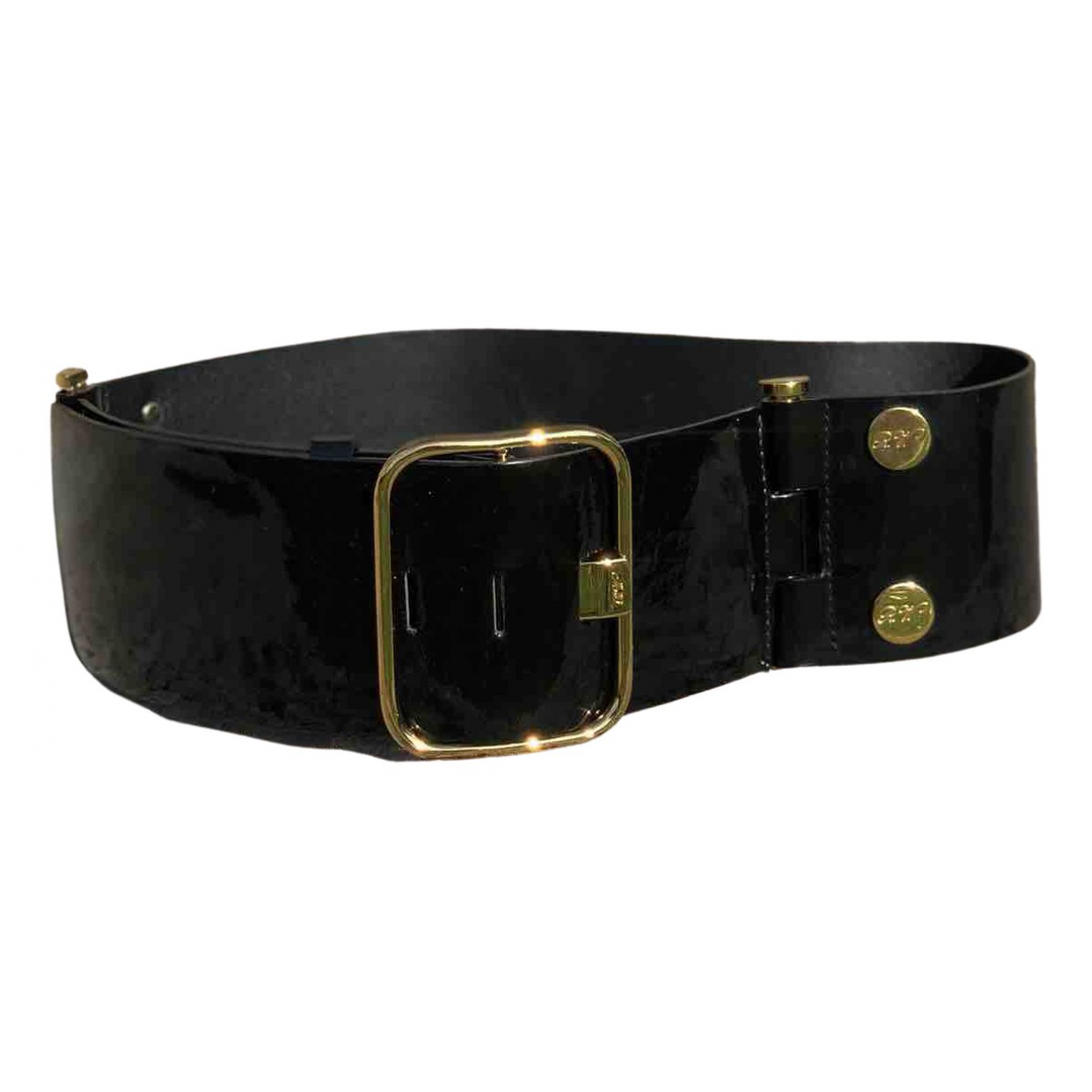 Roger Vivier N Black Patent leather belt for Women 75 cm