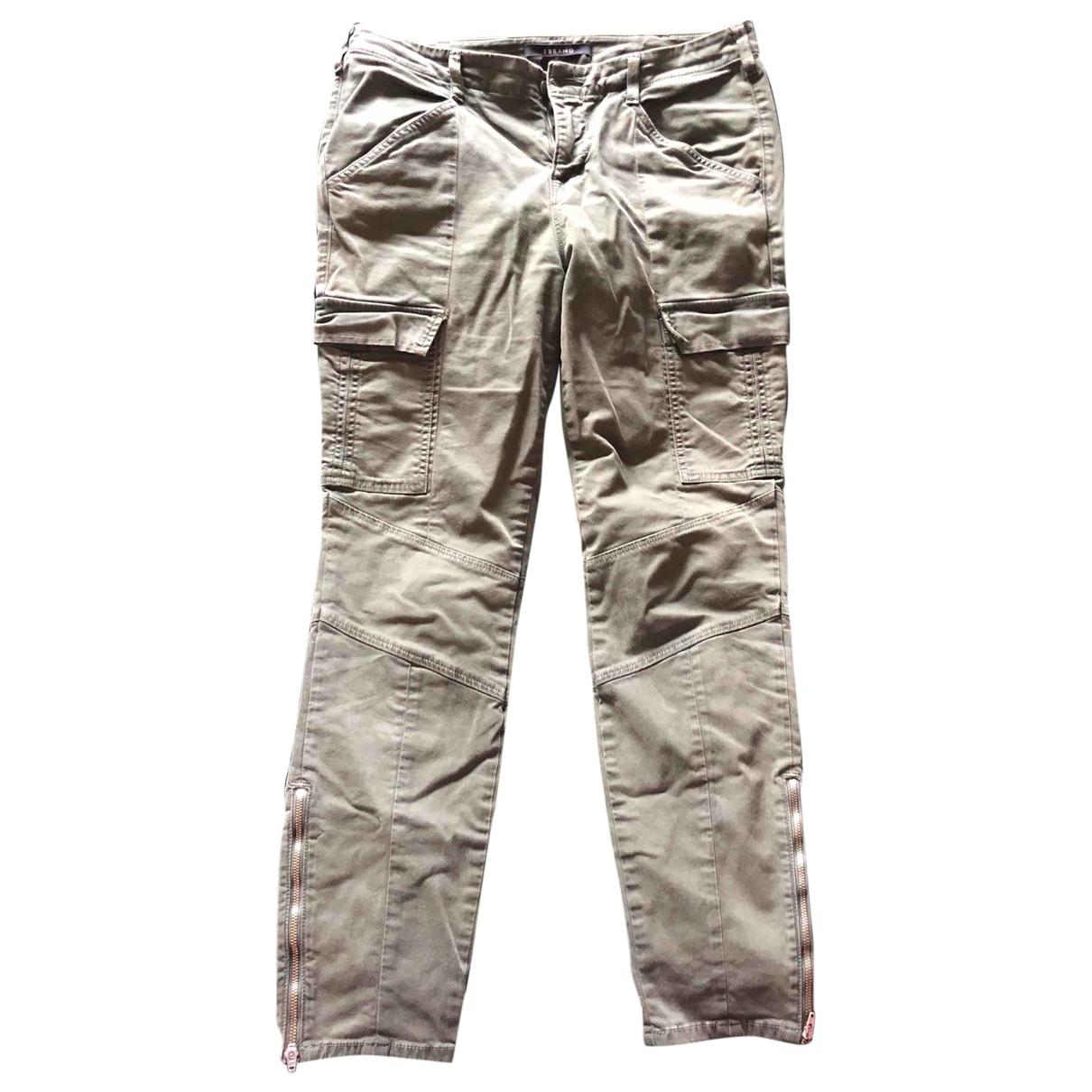 J Brand \N Green Cotton Trousers for Women L International