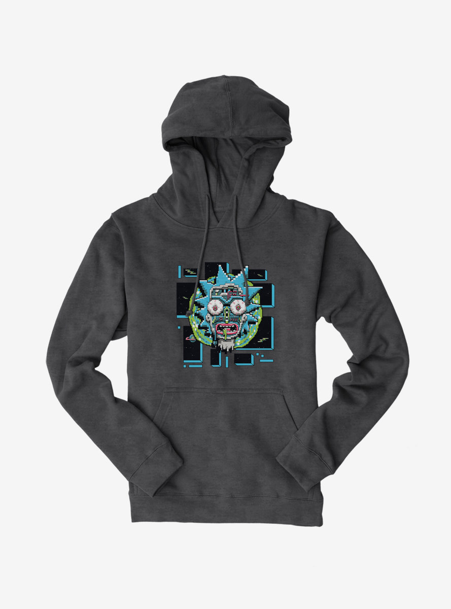 Rick And Morty Robot Face Hoodie