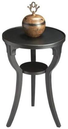 Dalton Collection 1328111 Round Accent Table with Transitional Style  Round Shape and Cherry Veneer Material in Black Licorice