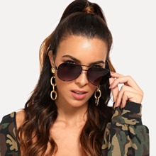 Top Bar Tinted Lens Sunglasses