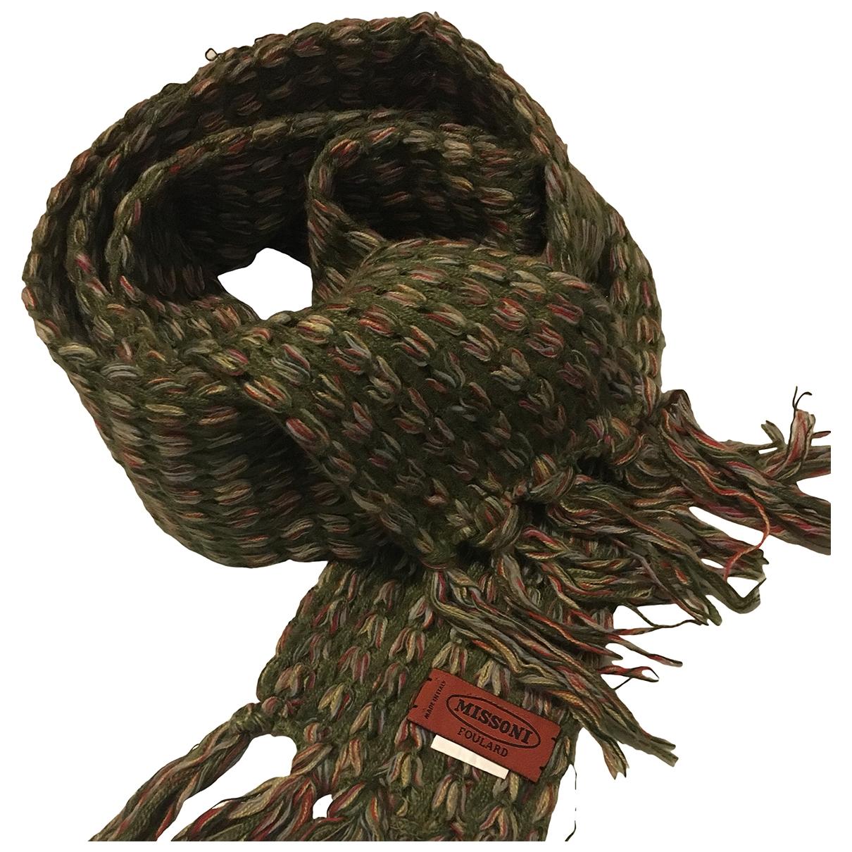 Missoni \N Schal in  Gruen Wolle