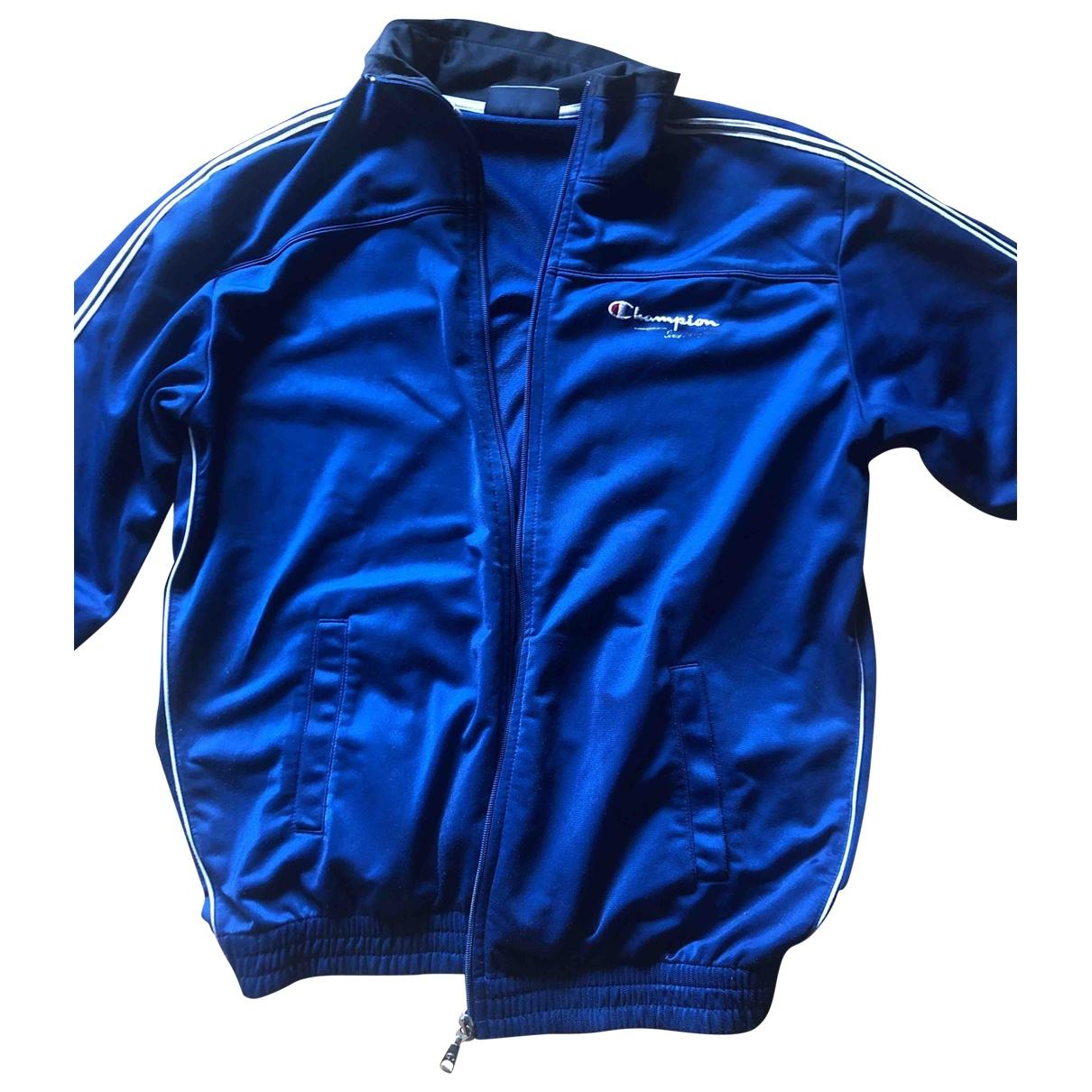 Champion \N Jacke, Maentel in  Blau Polyester