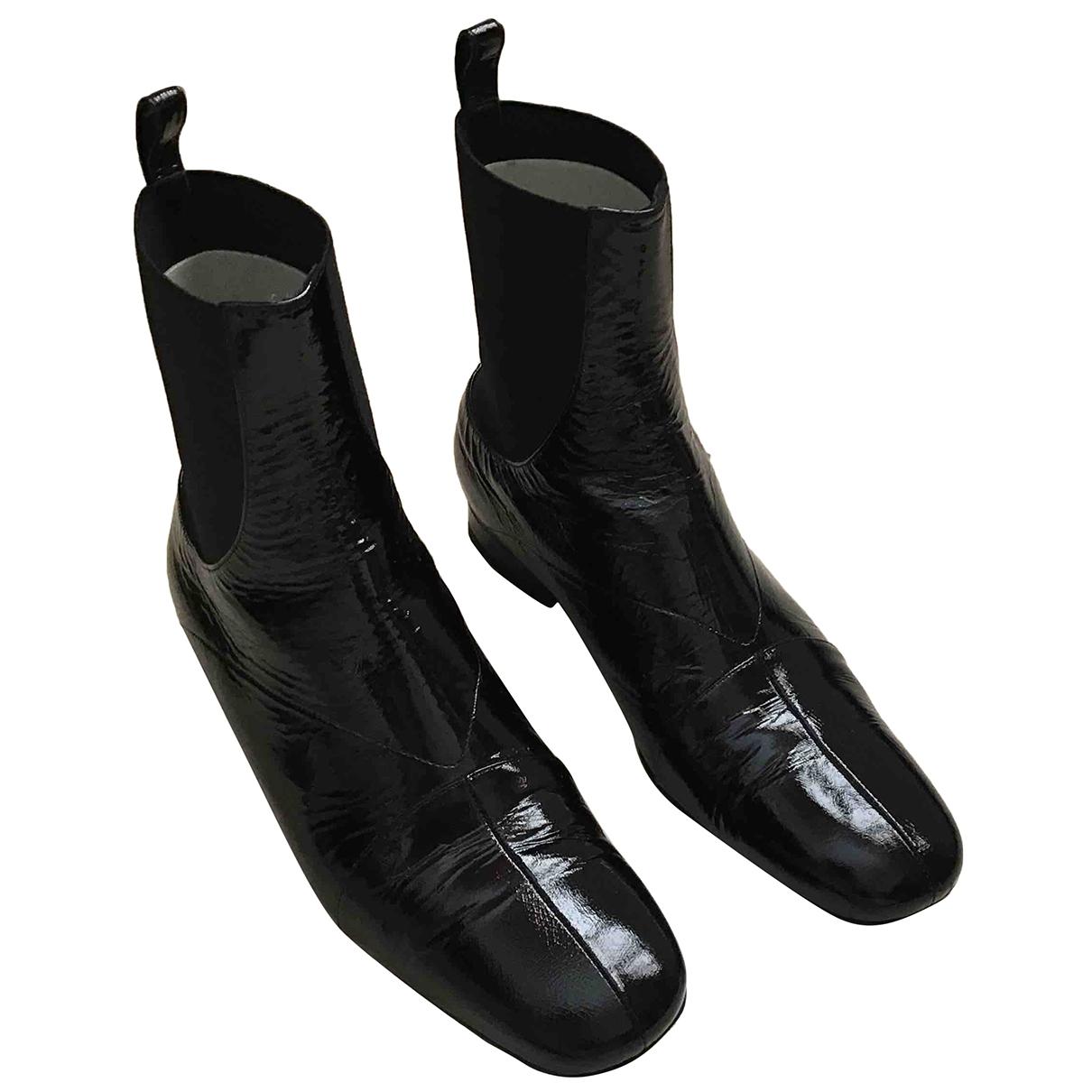 Premiata - Boots   pour femme en cuir verni - noir