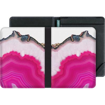 tolino vision eBook Reader Huelle - Pink Agate Slice von Emanuela Carratoni