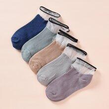 5 Paare Kleinkind Kinder Socken mit Netzstoff