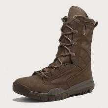 Men Wide Fit Lace-up Boots