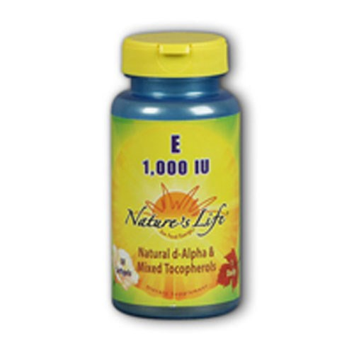 Vitamin E d-Alpha & Mixed Tocopherols 100 softgels by Natures Life