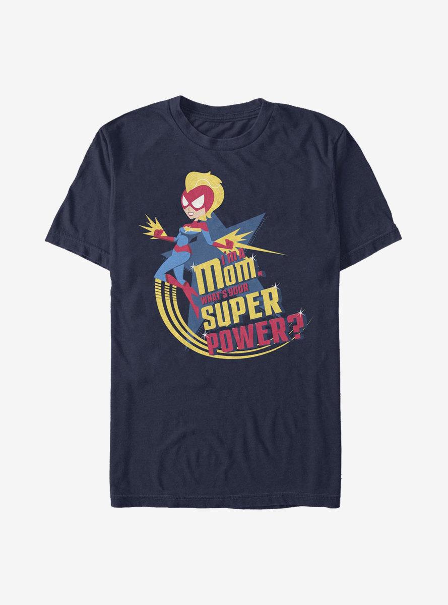 Marvel Captain Marvel Super Power Mom Marvel T-Shirt