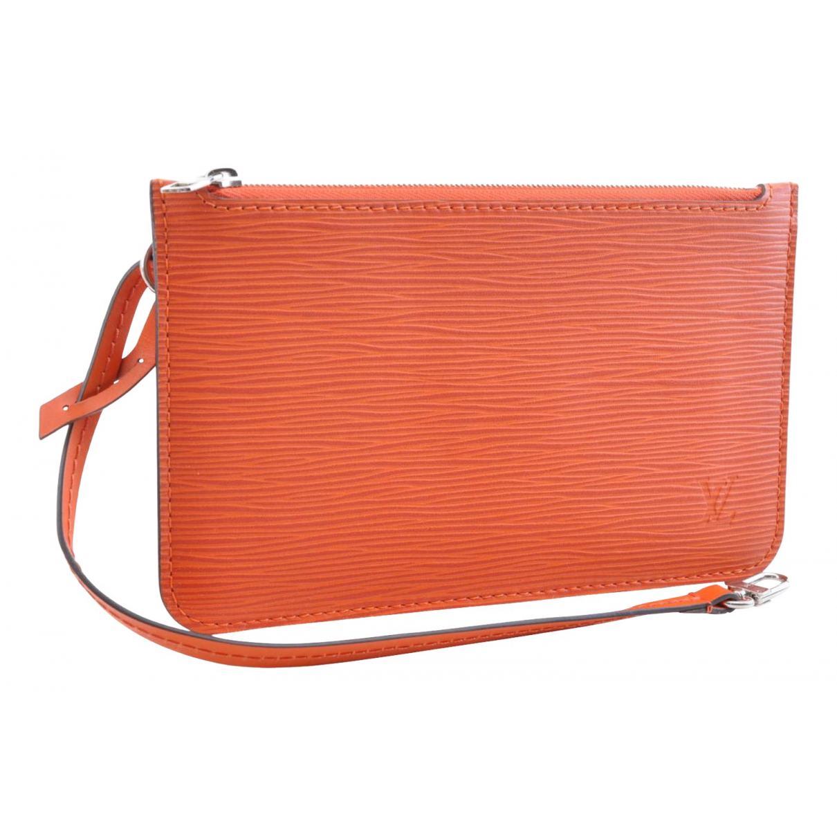 Louis Vuitton Neverfull Orange Leather Clutch bag for Women N