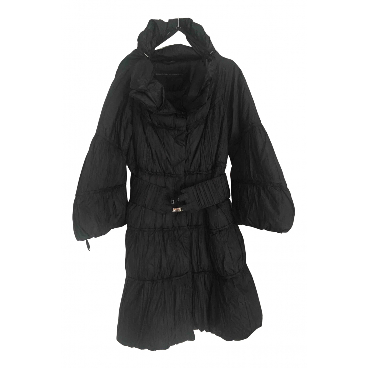 Ermanno Scervino N Black coat for Women 40 IT