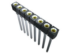 Samtec , SS 2.54mm Pitch 32 Way 1 Row Vertical PCB Socket, Through Hole, Screw, Solder Termination (7)