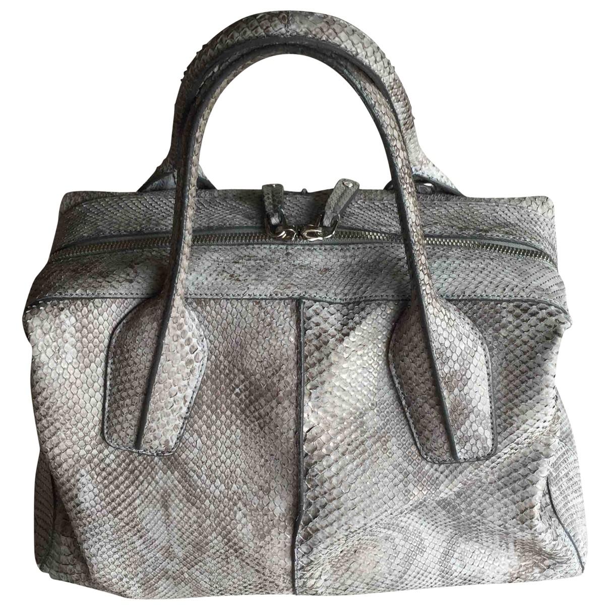 Tods \N Handtasche in  Grau Python