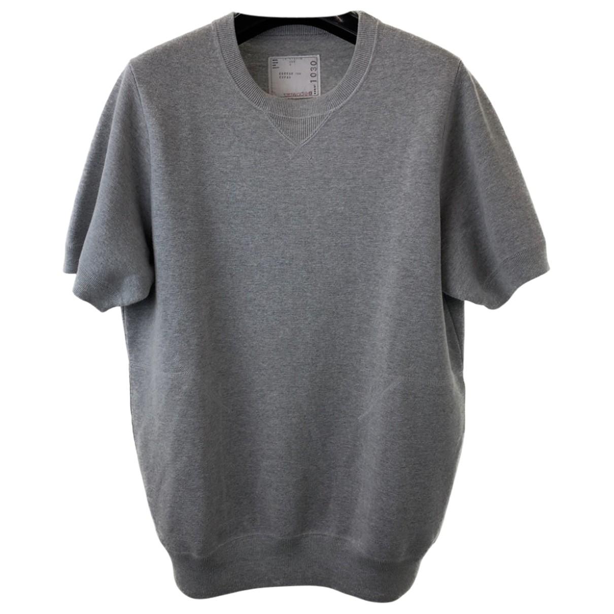 Sacai \N T-Shirts in  Bordeauxrot Baumwolle