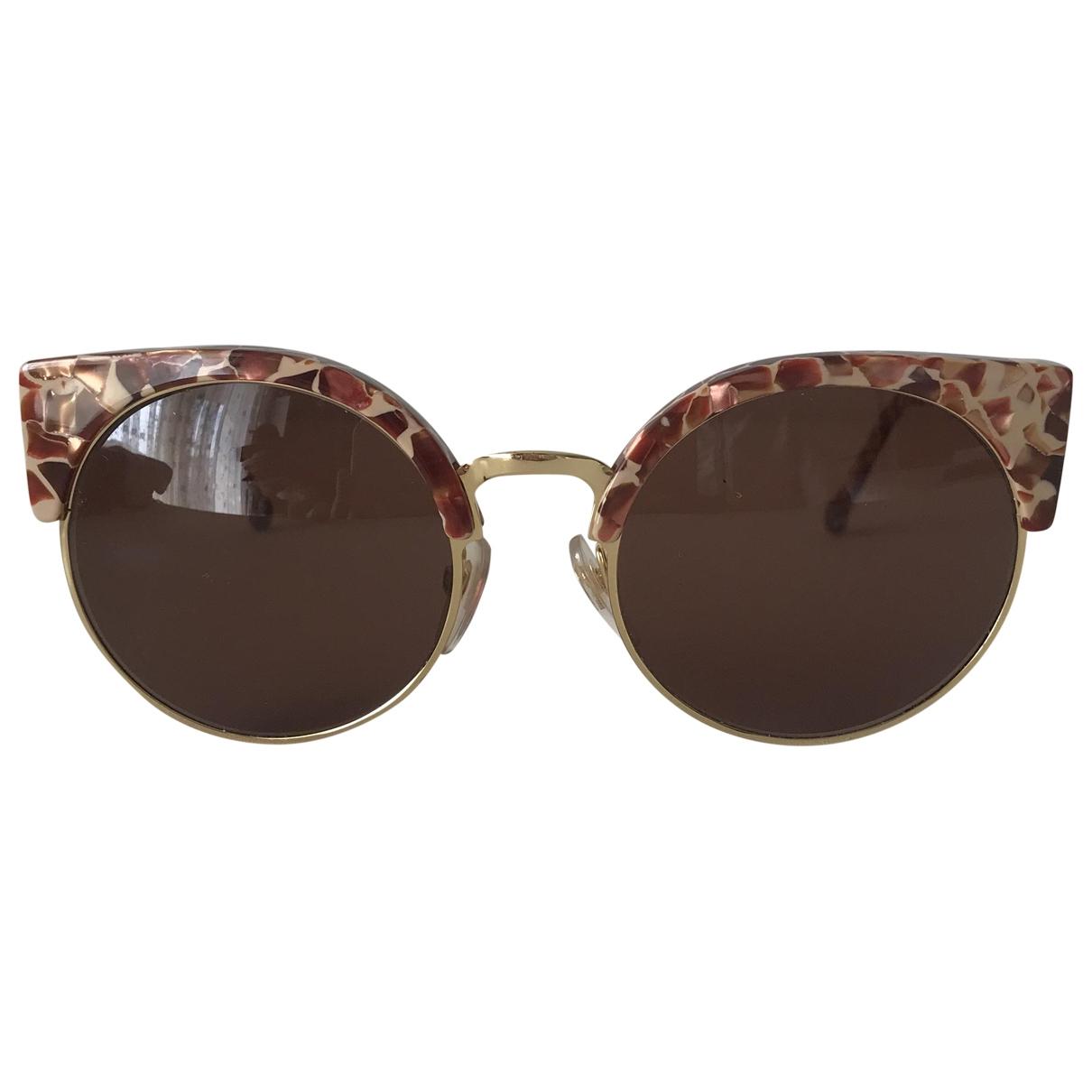 Retrosuperfuture \N Gold Metal Sunglasses for Women \N