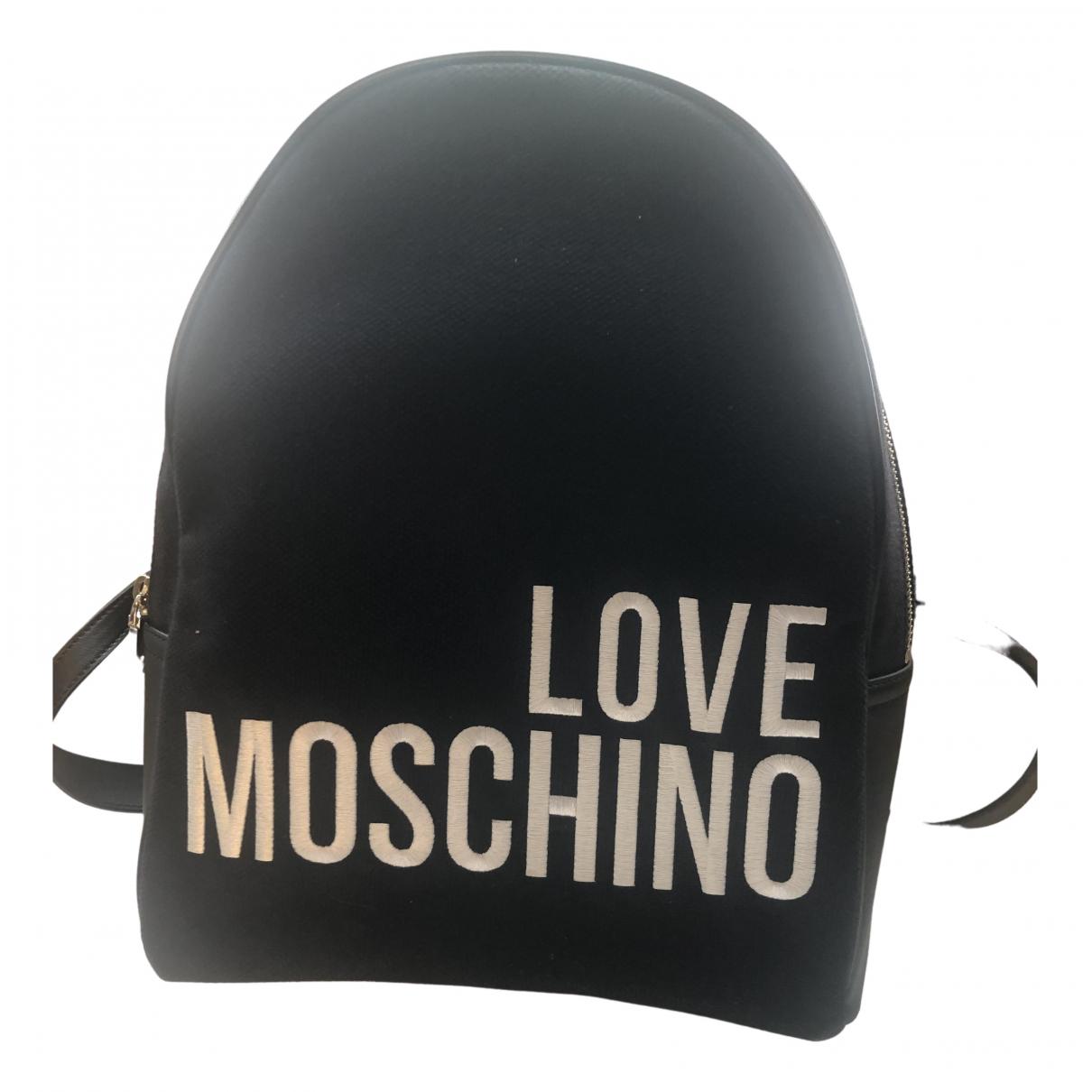 Moschino Love \N Rucksaecke in  Schwarz Baumwolle