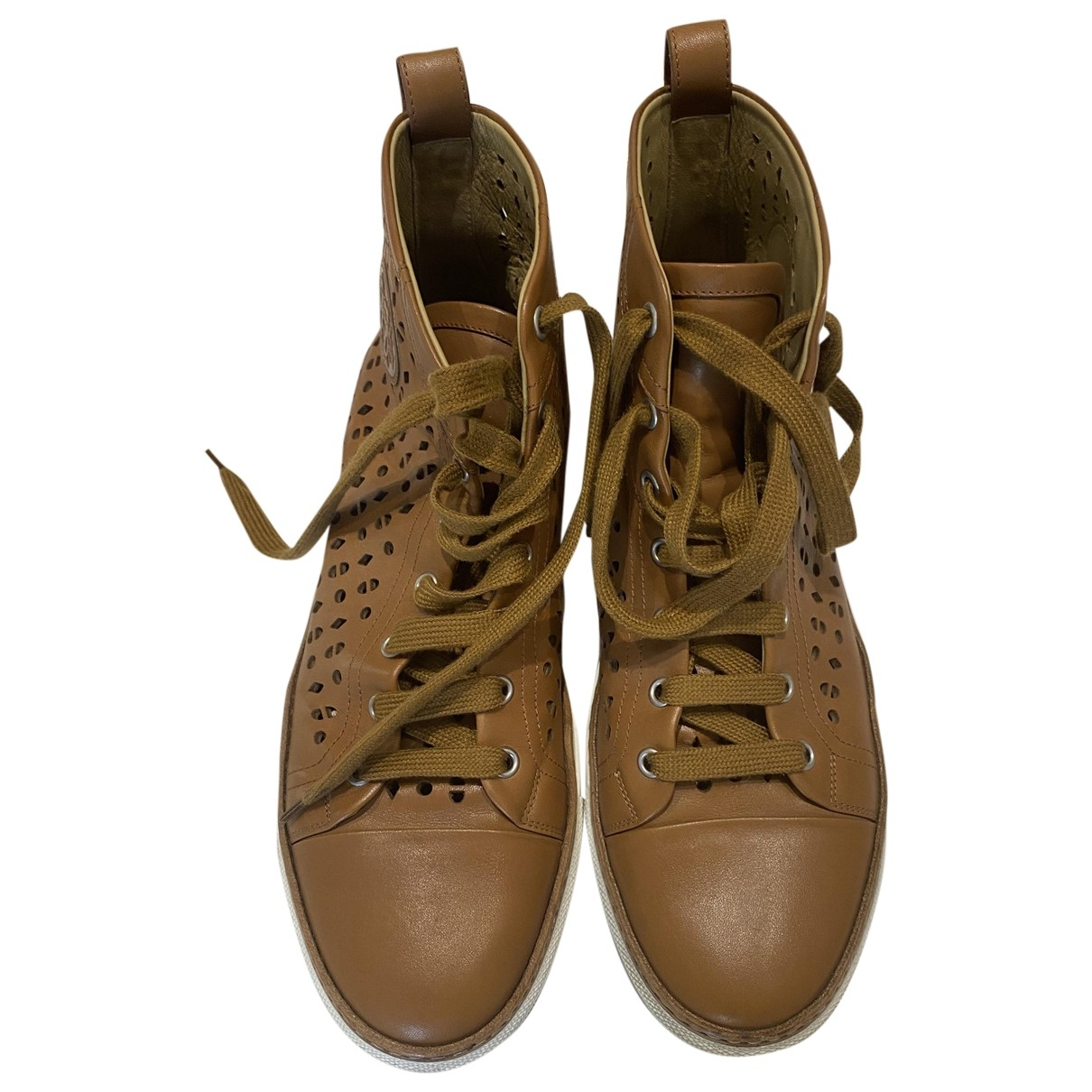 Hermès \N Camel Leather Trainers for Women 40 EU