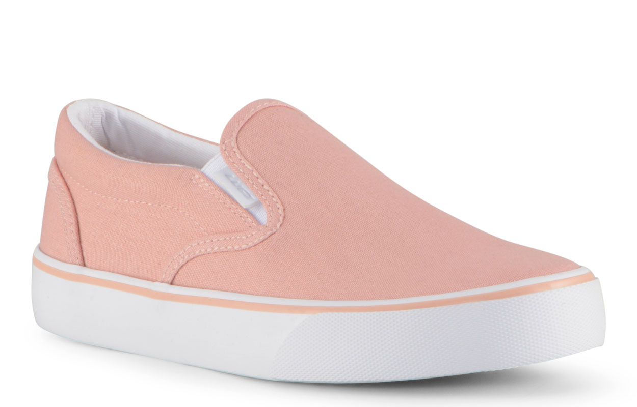 Women's Clipper 2 Slip-On Sneaker (Choose Your Color: ROSE/WHITE, Choose Your Size: 8.5)
