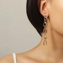 1 Paar Ohrringe mit Kette