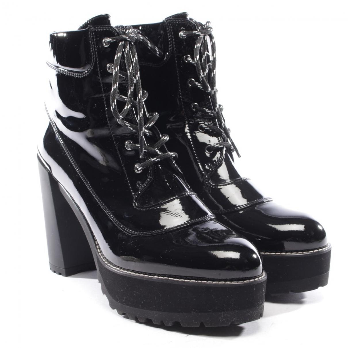 Stuart Weitzman - Boots   pour femme en cuir verni - noir