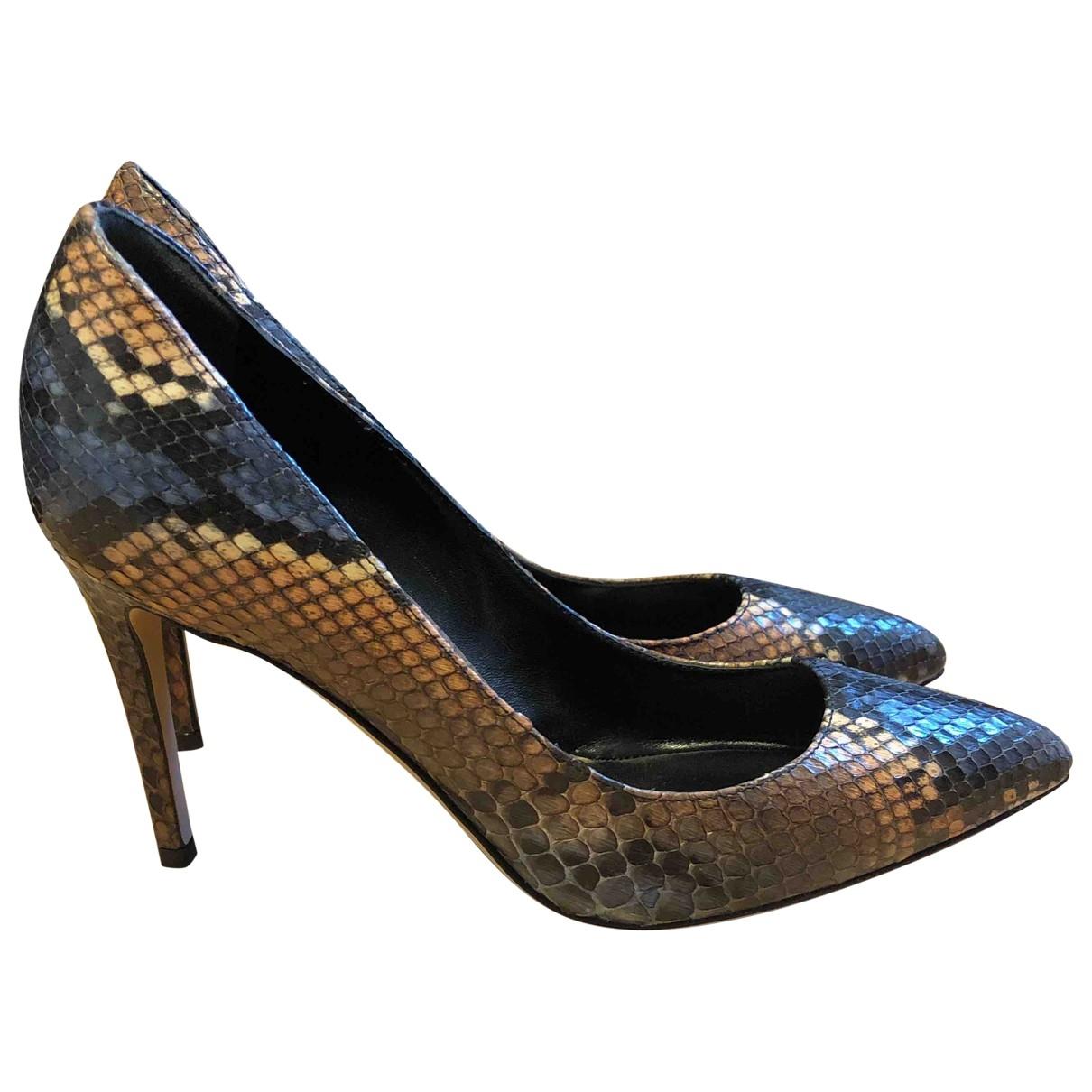 Gucci - Escarpins   pour femme en serpent deau - multicolore
