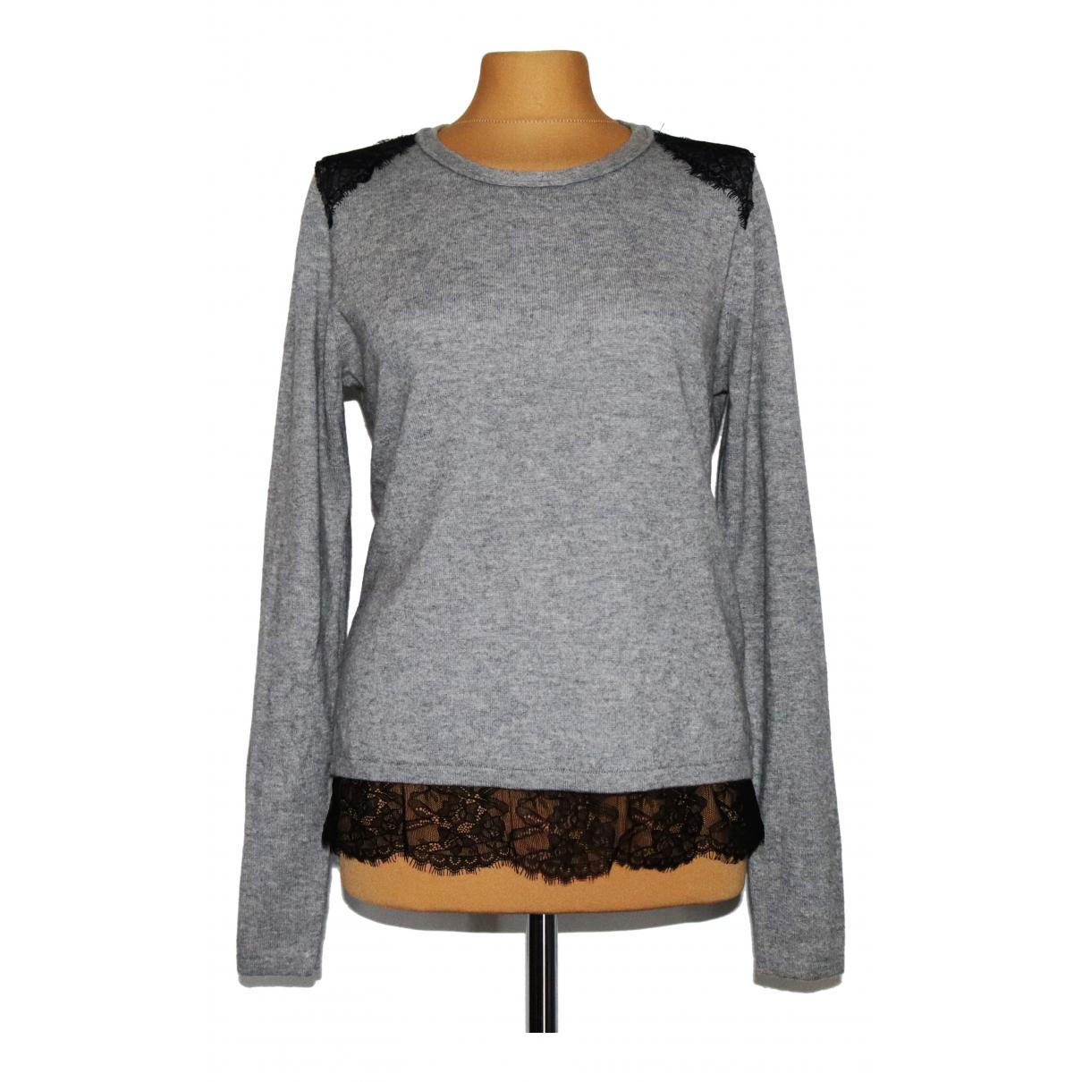 Boss - Pull   pour femme en laine - gris