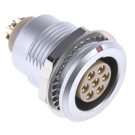 Lemo Connector, 7 contacts Panel Mount Socket, Solder