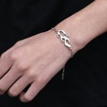 Maenner Armband mit Flamme Dekor