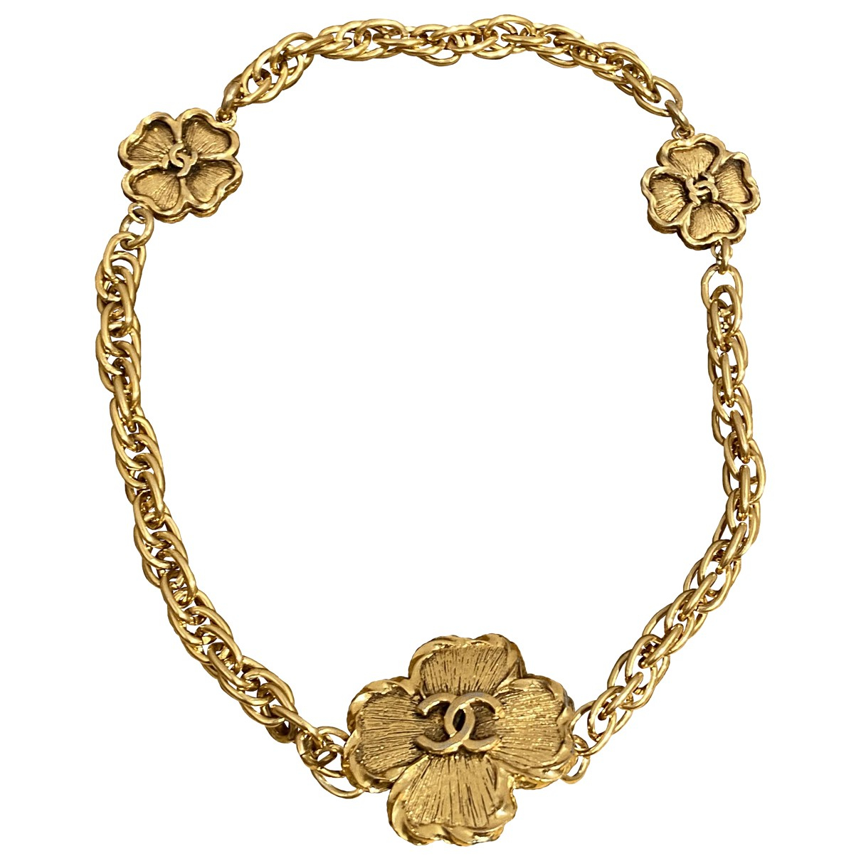 Chanel Camélia Gold Metal necklace for Women N