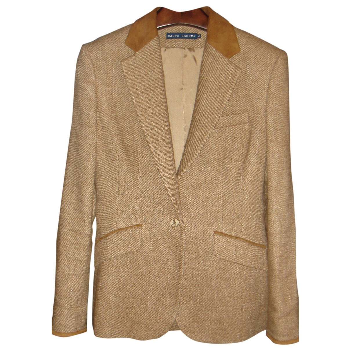 Ralph Lauren \N Camel Linen jacket for Women 4 UK