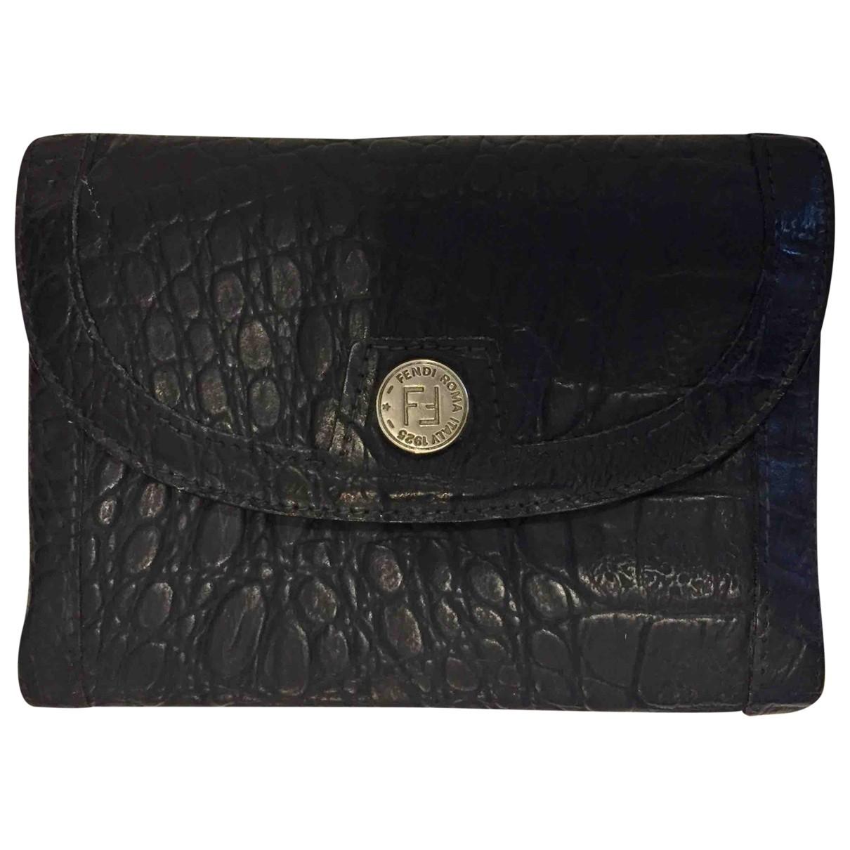 Fendi - Portefeuille   pour femme en cuir - bleu