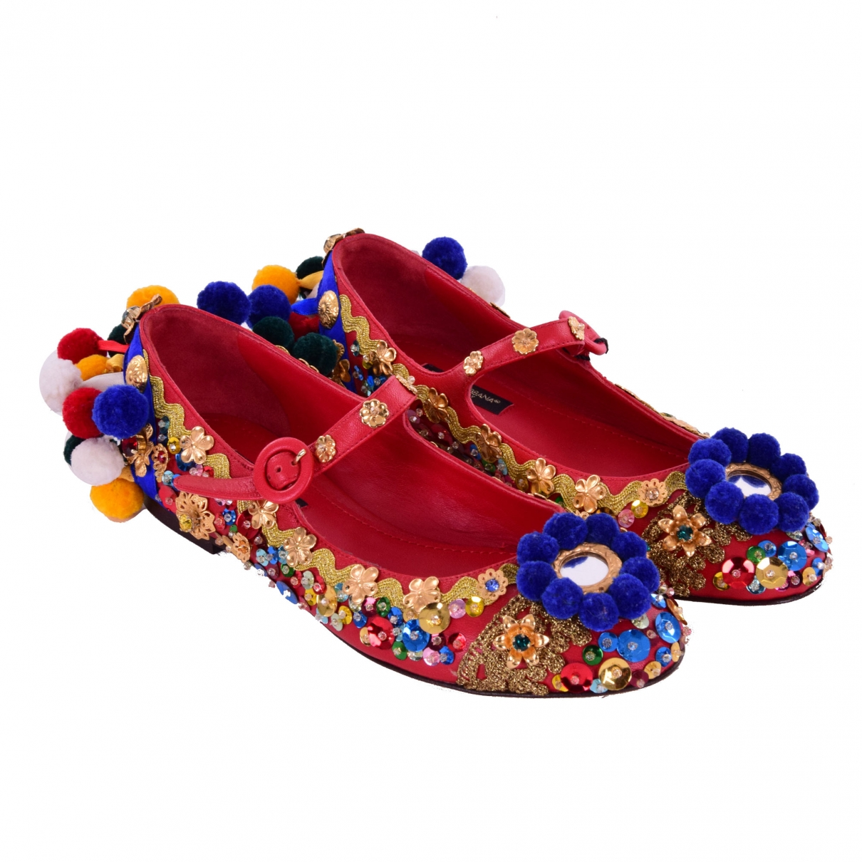 Dolce & Gabbana \N Multicolour Leather Ballet flats for Women 35 EU