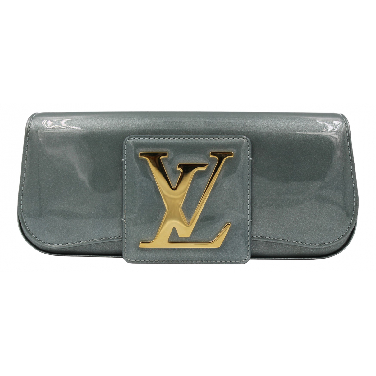 Louis Vuitton Sobe Clutch in  Gruen Lackleder