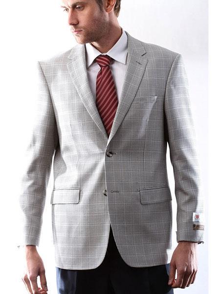 Men's Italian Silk Wool Cashmere Black/White Houndstooth Sport Coat