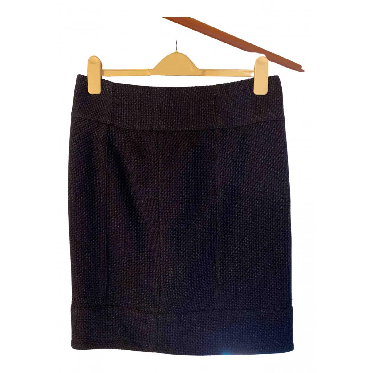 Emporio Armani - Jupe   pour femme en laine - bleu
