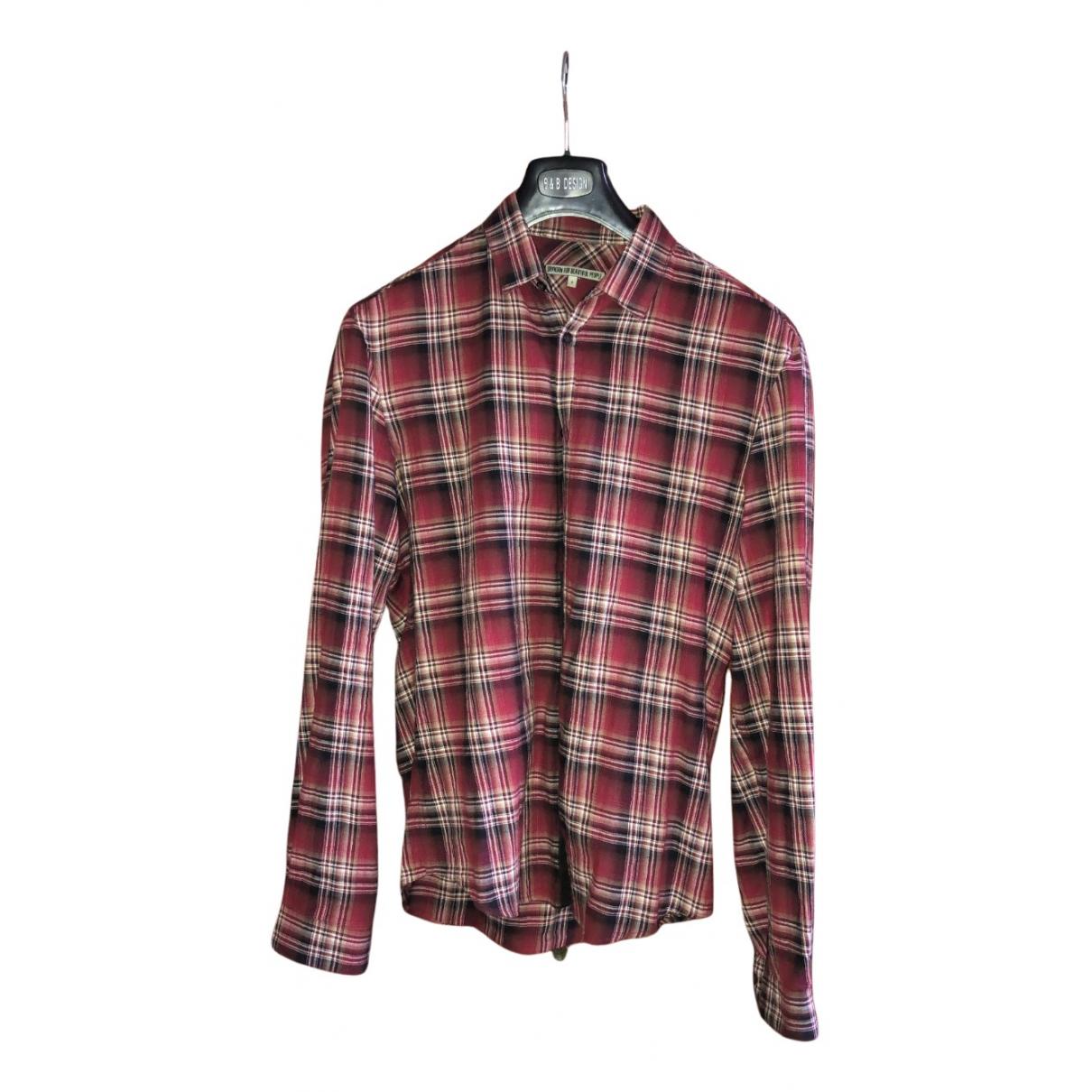 Drykorn - Chemises   pour homme en coton - rouge
