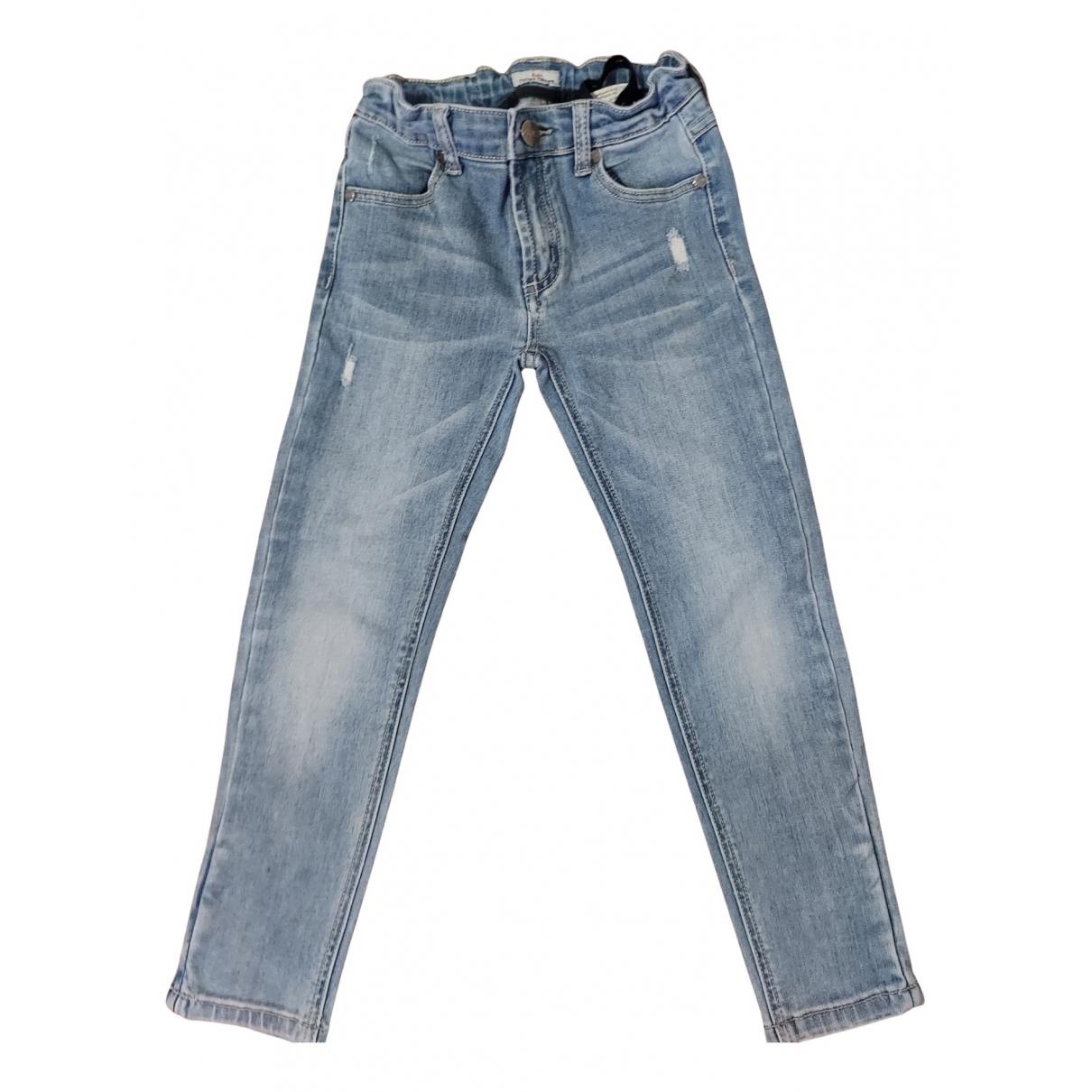 Cesare Paciotti - Pantalon   pour enfant en coton - bleu