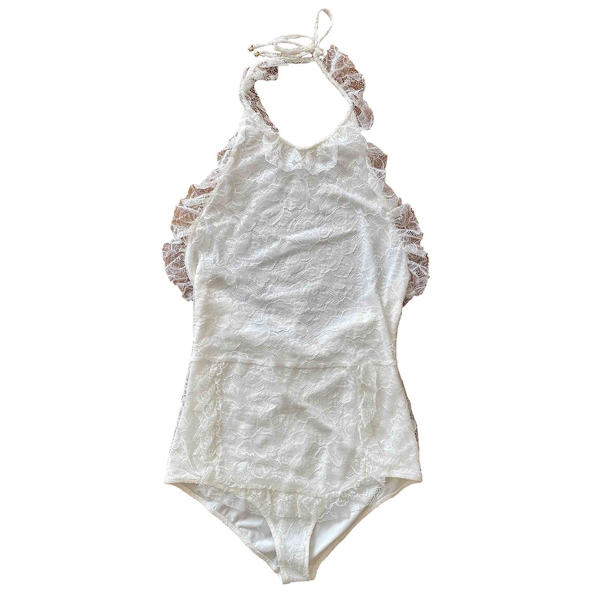 Chanel - Bain   pour femme en coton - elasthane - blanc