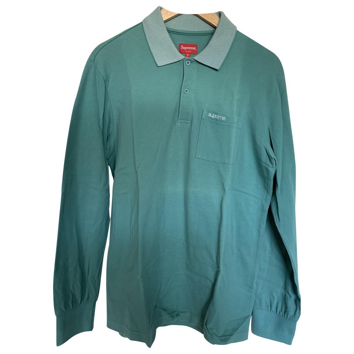 Supreme - Polos   pour homme en coton - turquoise