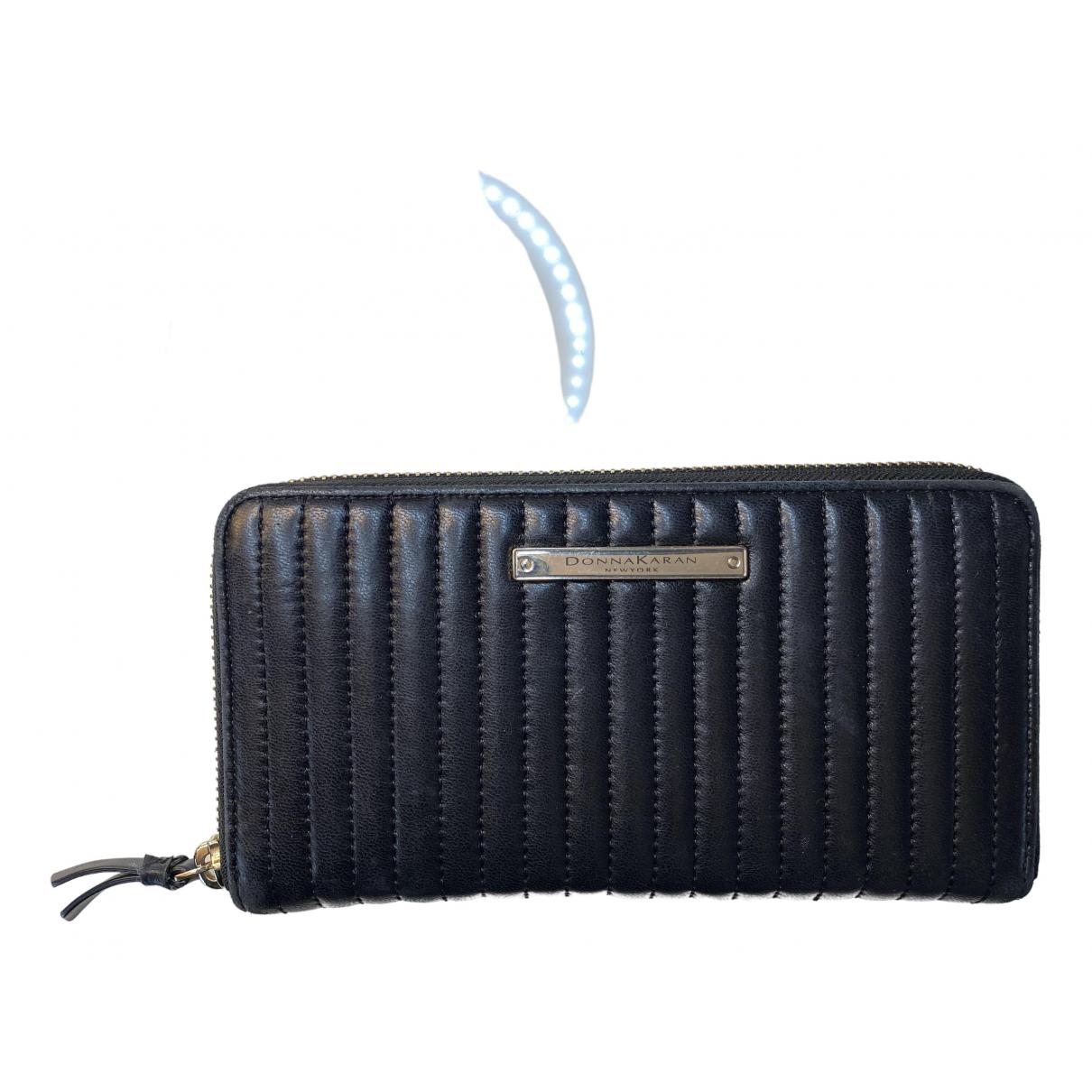 - Portefeuille   pour femme en cuir - noir